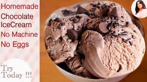 homemade chocolate ice cream recipe no