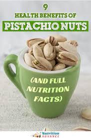 9 health benefits of pistachio nuts