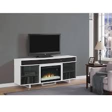 enterprise white faux fireplace w