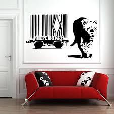 Banksy Leopard Escape Barcode Cage Car Creative Animal Vinyl Wall Sticker Mural Wallpaper Decal Art 60x100cm Home Decoration New Home Decor Sticker Muralvinyl Wall Aliexpress
