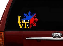 Filipino Vinyl Car Decal Sticker 4 75 Unique I Love Etsy