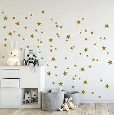 Wall Stickers Stars Gold 90s Mix Set Wall Decal Stars Sont 2 5 10 Cm De Haut Wall Sticker Stars Pour La Pepiniere Et Home Decor Star Wall Decals Gold Star
