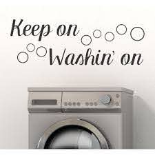 Laundry Room Wall Decals Keep Washin On Bubbles Wall Art Decor Sticker 33x11 Inch Black Walmart Com Walmart Com