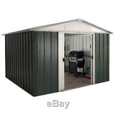 yardmaster 10ft x 8ft metal garden shed