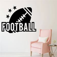 American Football Decal Vinyl Wall Stickers For Living Room Decals Decoration Kids Room Sticker Hot Sale Home Decor Wall Stickers Aliexpress