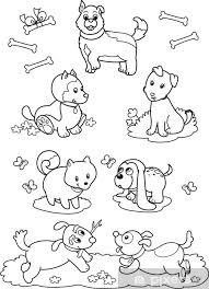 Fotobehang Zeven Honden Leuke Kleurplaten Voor Kinderen Pixers