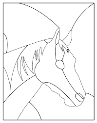 horse stained glass patterns with