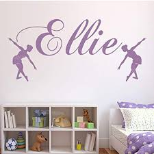 Wsydd Wall Sticker Ballet Dance Decal Girls Bedroom Home Decor Girl Nursery Stickers Room Decorate 58x25cm Educational Toys Planet