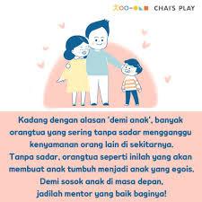 perilaku orangtua yang membuat anak jadi egois chai s play