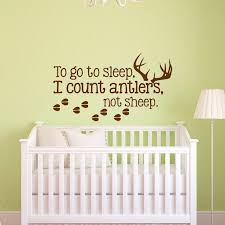 To Go To Sleep I Count Antlers Not Sheep Wall Decal Sticker Etsy Boys Wall Decals Nursery Wall Decals Kids Wall Decals