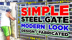 Steel Gate Design How To Fabricate Modern Look Steel Gate Youtube