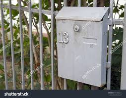 One Gray Metal Mailbox Hanging On Stock Photo Edit Now 1511956211