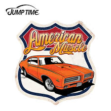 Jumptime 13cm X 12 4cm For American Muscle 1969 Gto Car Auto Vinyl Sticker Car Bumper Windows Decal Waterproof Accessories Car Stickers Aliexpress