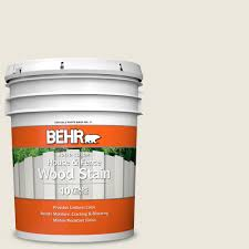 Behr 5 Gal Bxc 32 Picket Fence White Solid Color House And Fence Exterior Wood Stain 01105 The Home Depot