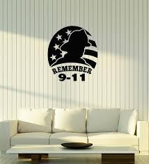 Vinyl Wall Decal Firefighter 9 11 September Memorial Patriot Day Stick Wallstickers4you