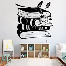 Beautuful Books Rose Vinyl Wall Decal Reading Room Bookworm Library Wall Stickers For Nursery Children Room Decor Removable Custom Wall Decal Custom Wall Decals From Joystickers 14 20 Dhgate Com