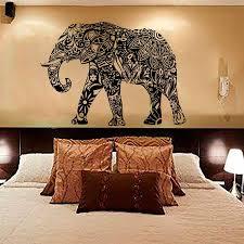 Mandala Indian Elephant Vinyl Wall Sticker Bedroom Free Shipping Mandalamagikdeals Com