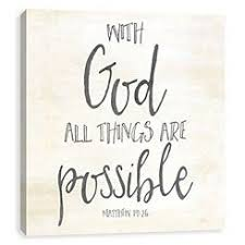 god all things are possible canvas art print canvas art