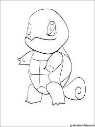 Kleurplaat Met Een Pokemon Squirtle Gratis Kleurplaten