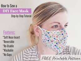 DIY Face Mask Tutorial and Pattern ...