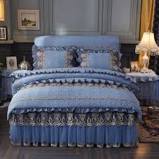 20 washed cotton quilted lace bedding
