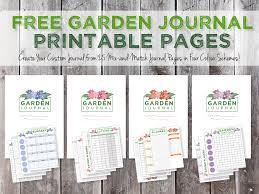 garden journaling and planning