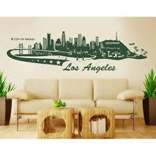 Los Angeles City Skyline Wall Decal Cityscape Wall Decal Sticker Mural Vinyl Art Home Decor 4196 Brown 59in X 18in Walmart Com Walmart Com