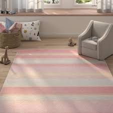 Three Posts Baby Kids Stonecrest Hand Tufted Wool Light Blue Pink Area Rug Reviews Wayfair