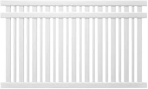 Outdoor Essentials Pro Series Evanston White Vinyl Spaced Picket Fence Panel Gate Kit 5 Ft Tall Panel 8 Ft Amazon Com