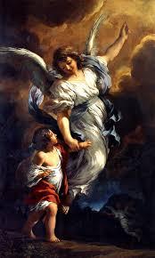 El ángel guardián 1656 Pintura Italiana De Pietro da Cortona Repro ...