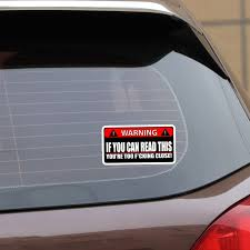 Yjzt 2x 14cm 7 1cm Warning Car Sticker If You Can Read This Youre Too Close Pvc Funny Decal 12 0791 Car Stickers Aliexpress