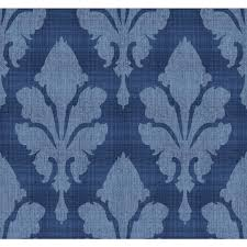paper muse blue fleurish wallpaper