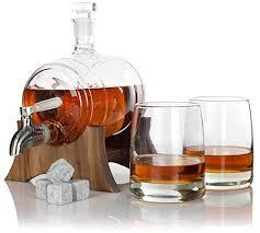 atterstone barrel whiskey decanter set