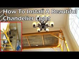 install a beautiful chandelier light