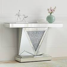 home décor items mirrored console table