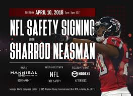 Hannibal Industries Invites You to Meet NFL Free Safety Sharrod Neasman at  MODEX 2018 | Business Wire