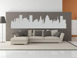 Baltimore Maryland City Skyline Interior Wall Decal Without Etsy Wall Decals Interior Walls Wall Decal Sticker
