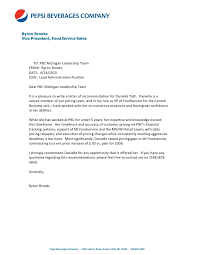 Letter Of Recommendation From Byron Brooks