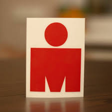 M Dot Ironman 140 6 Vinyl Stickers Set 3pcs Red Triathlon