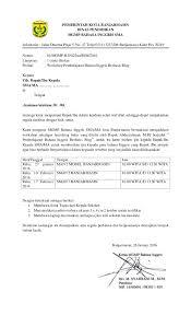 Surat Ijin Pelatihan Blog