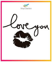 Kiss Love You Sticker Vinyl Window Decal Sign Ebay