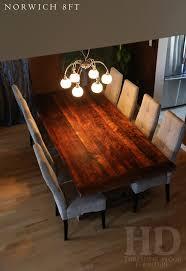 reclaimed wood sawbuck table ottawa