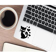 Fun Cat Trackpad Decal Laptop Stickers Vinyl Stickers Mac Book Protective Full Cover Skin Laptop Skins Aliexpress