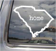 Amazon Com South Carolina Home State Outline Sc Columbia Myrtle Beach The Palmetto State Usa America Cars Trucks Moped Helmet Hard Hat Auto Automotive Craft Laptop Vinyl Decal Store Window Wall