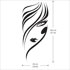 Face Girl Hair Salon Beauty Vinyl Wall Art Decal