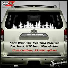 W277 Subaru Tree Forest Decal Graphic Wrap Car Rear Window Decal Van Ebay