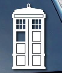 Doctor Who Tardis Window Decal Only 4 00 Free Shipping