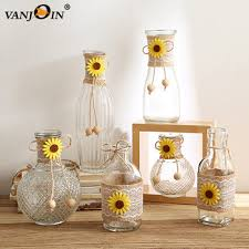 fresh sunflower decorative glass