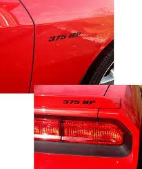 2009 2014 Challenger 3pc Fenders Spoiler Decal Kit Rpidesigns Com