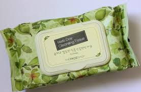 the face herb day cleansing tissue